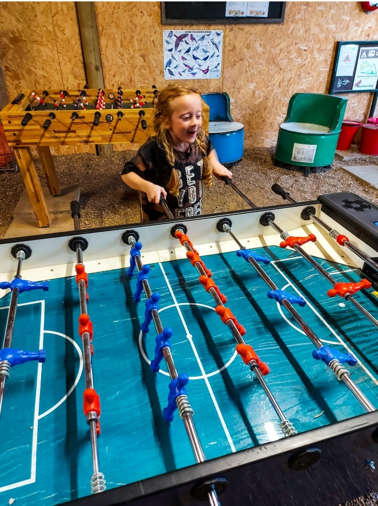 Enjoying a bit of table football together!