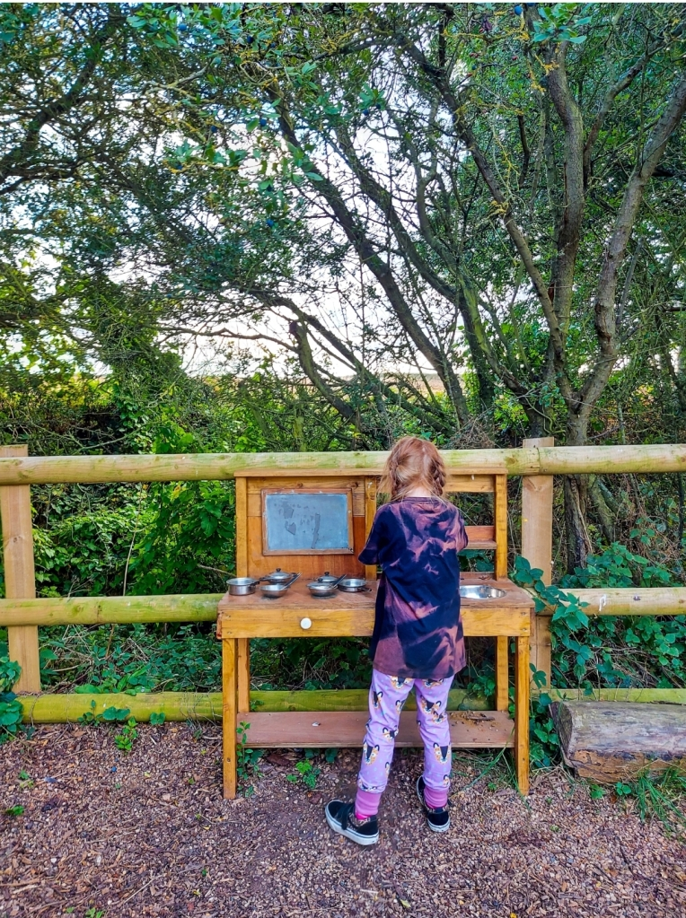 The mud kitchen was a highlight for Lily