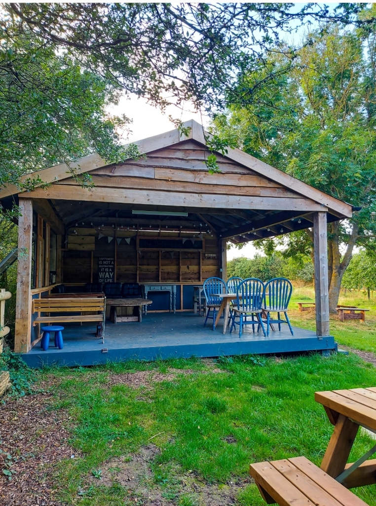 A great area to relax outdoors while shelter from any rain
