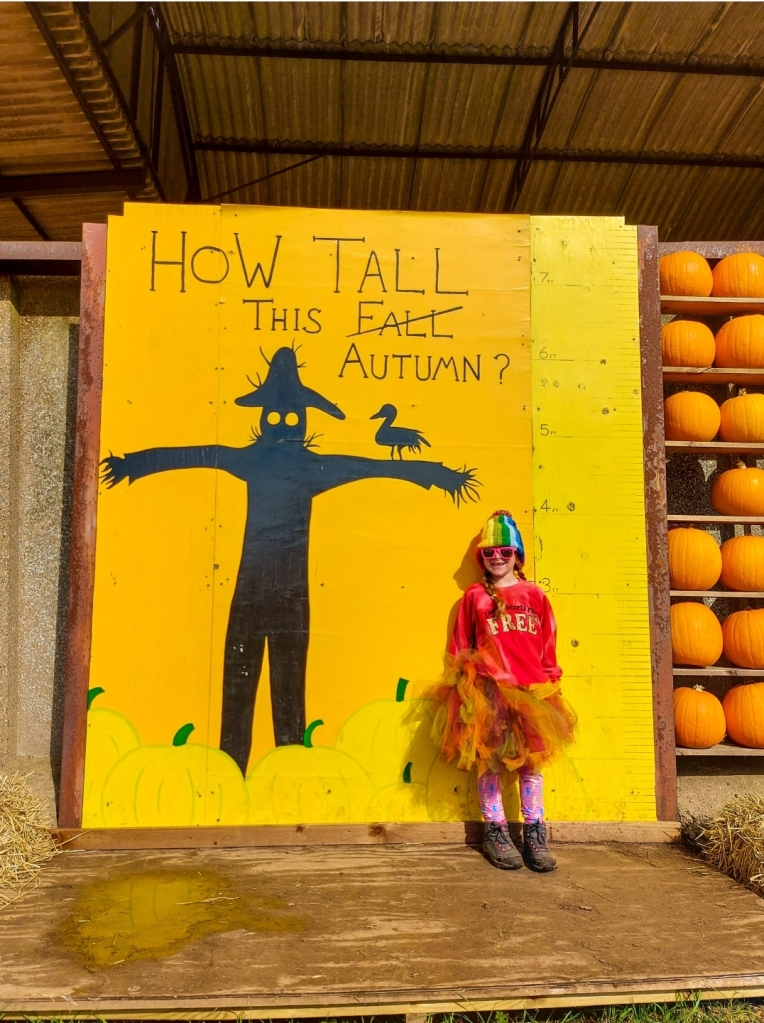 We always have to check out how tall this fall!