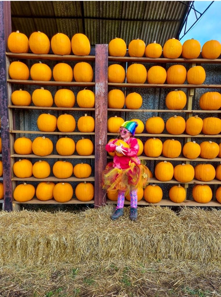 The pumpkin wall is always a hit