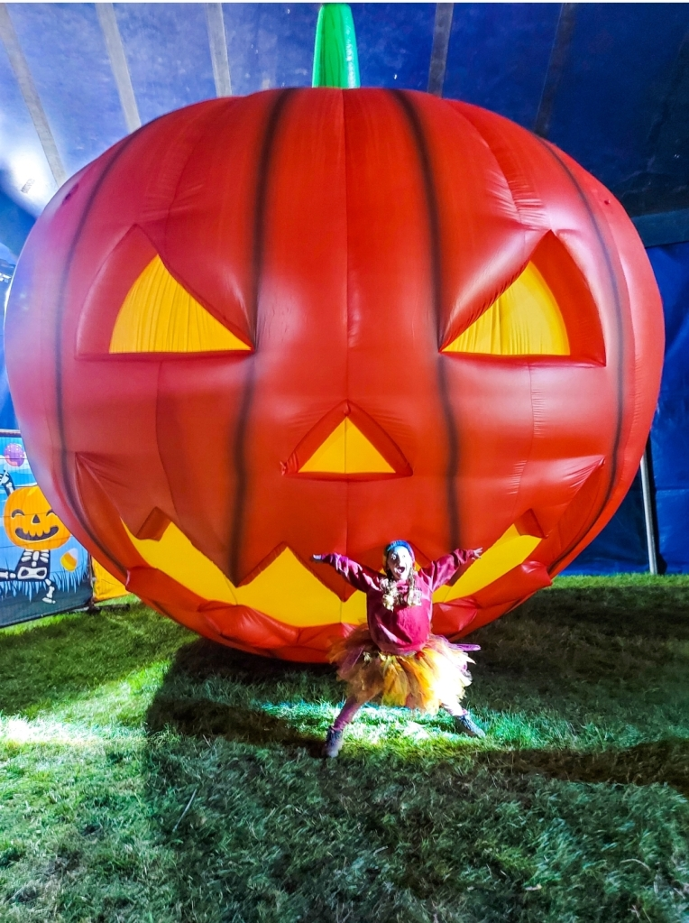 The giant pumpkin in the Halloween Fantasy Land