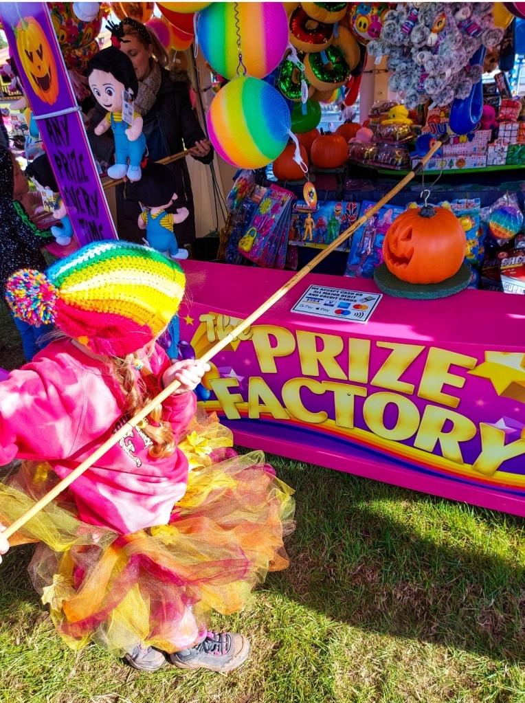 Even the fairground was in the Halloween spirit!